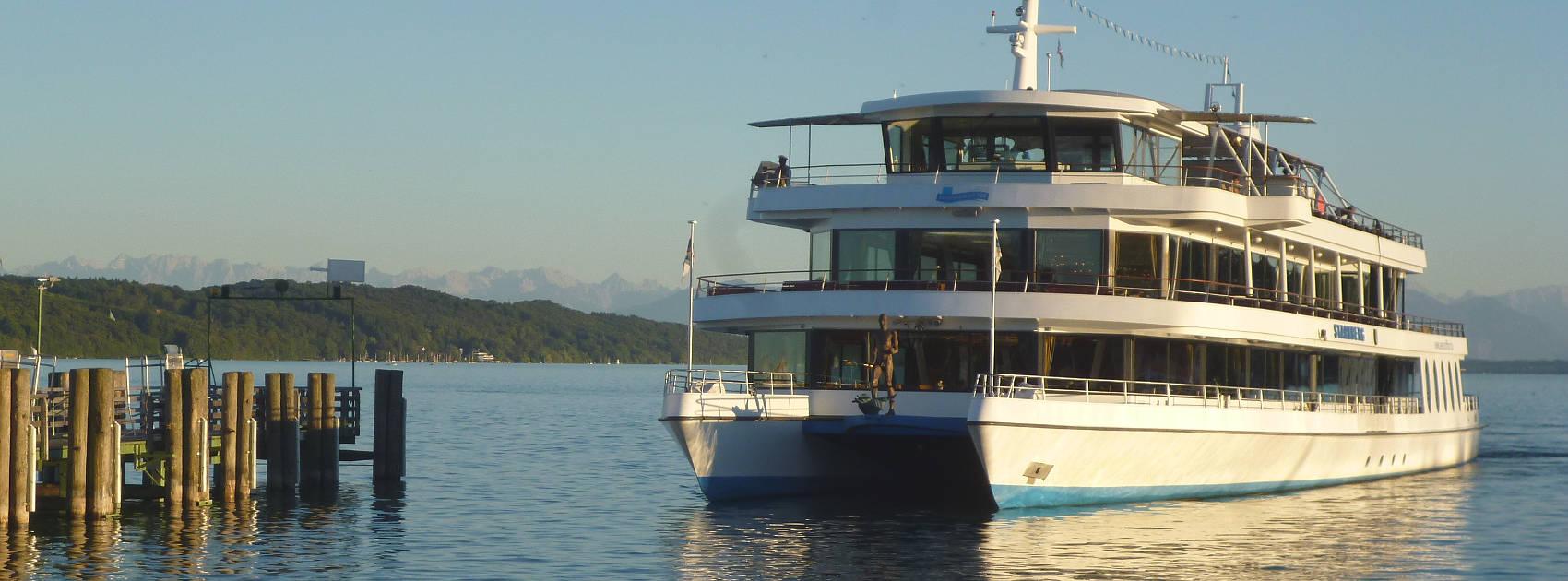 Ausflug mit dem Dampfer auf dem Starnberger See